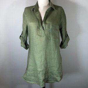 Bella Dahl Linen Button Sleeve Tunic Pop-over